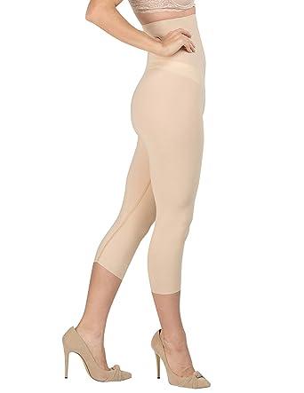 f688cd66bd Delfin Spa Women s Body Slimming High Waist Shapewear Capris ...