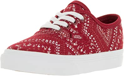 Red | Womens Vans U Authentic Ditsy Bandana Red