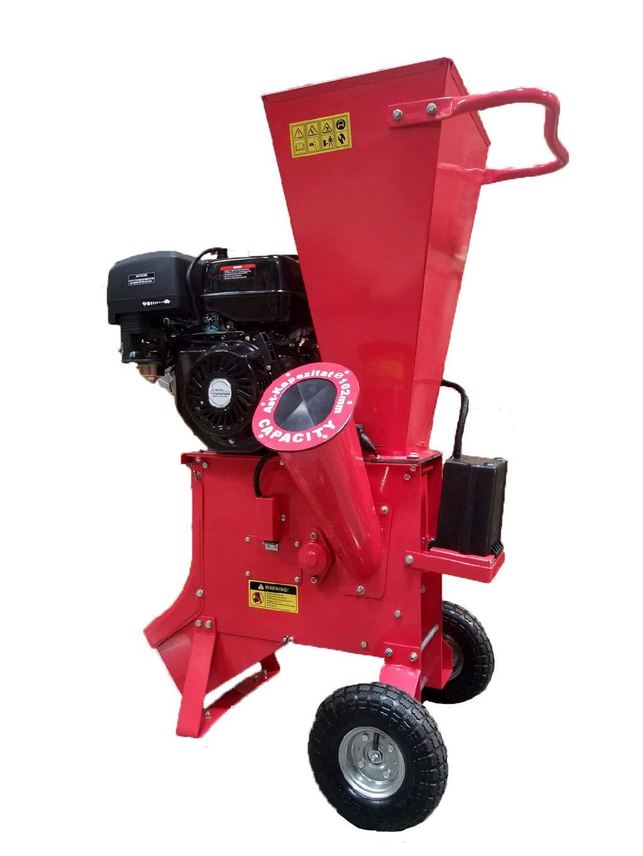 Samson Machinery 15HP 420CC Gas Powered Wood Chipper Shredder 4'' Capacity w/Mulch Bag