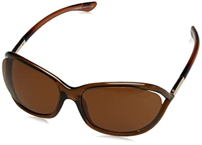 faf84eb838 Image Unavailable. Image not available for. Color  Tom Ford Jennifer FT0008  Sunglasses-48H Brown ...