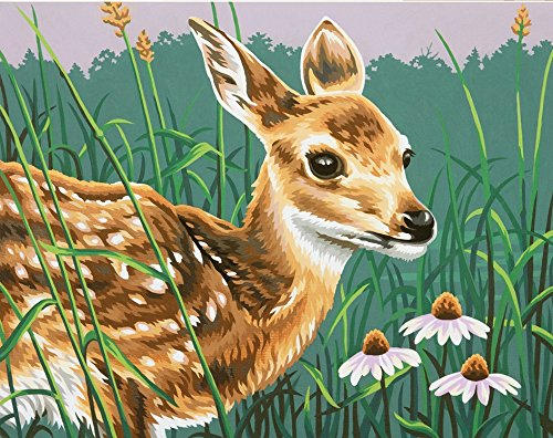Fawn Adult - Dimensions Paint by Number Fawn & Flowers
