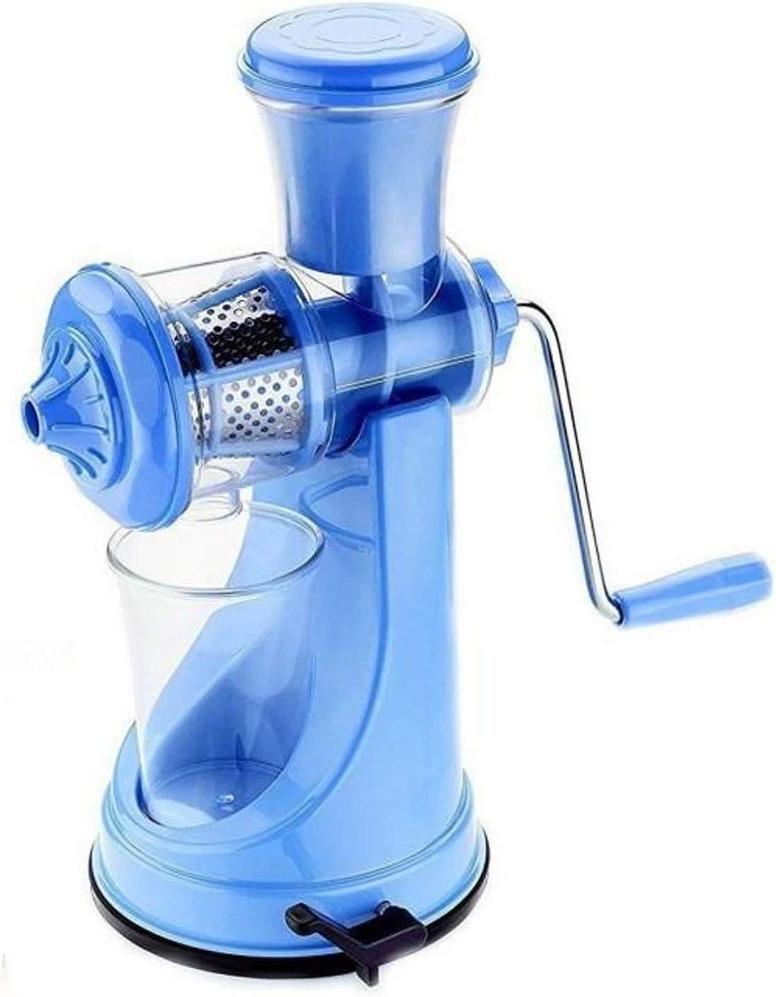 Khandekar Manual Hand Crank Single Auger Juicer, Manual Fruit Juicer with Handle, Vegetable Juicer for Shakes, Smoothies - 12 inch