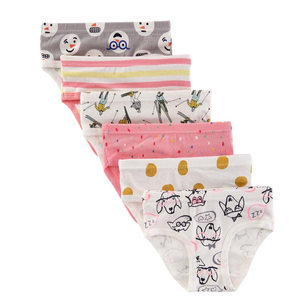 The Kite Toddler Girls Panties Cotton 6-Pack 5t 6