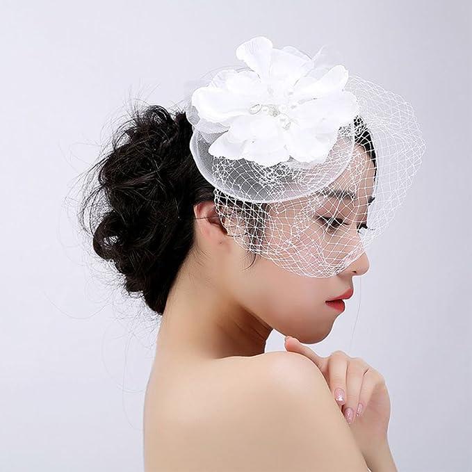 Damen Elegant Blumen Haar Accessoire Fascinator Hut Haarschmuck