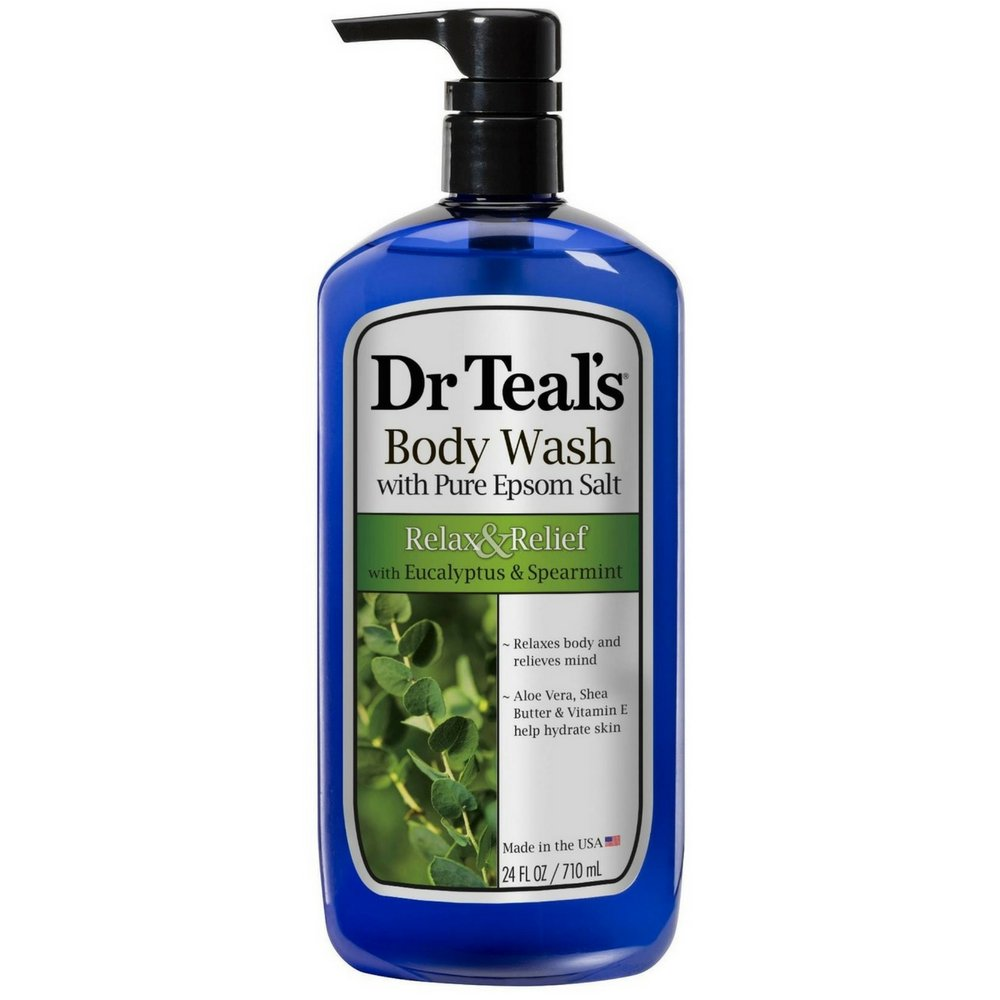 Dr Teal's Body Wash, Relax & Relief with Eucalyptus & Spearmint 24 fl oz (Pack of 2) Dr Teal's Body Wash Dr. Teal's