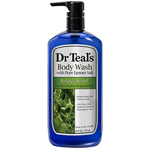 Dr Teal's Body Wash, Relax & Relief with Eucalyptus & Spearmint 24 oz (Pack of 3)