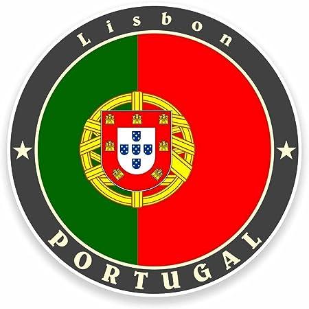 2 x 10cm Pretty Lisboa Portugal Vinyl Stickers Travel Luggage Sticker #31520