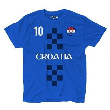 KiarenzaFD Camiseta Camiseta Fútbol Selección Modric Croacia 10 Streetwear Hombre, KTS01912-S-Royal