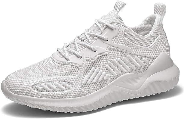 AZOOKEN - Zapatillas de Deporte Transpirables para Hombre y Mujer, 35-46, Color Blanco, Talla 44 EU: Amazon.es: Zapatos y complementos