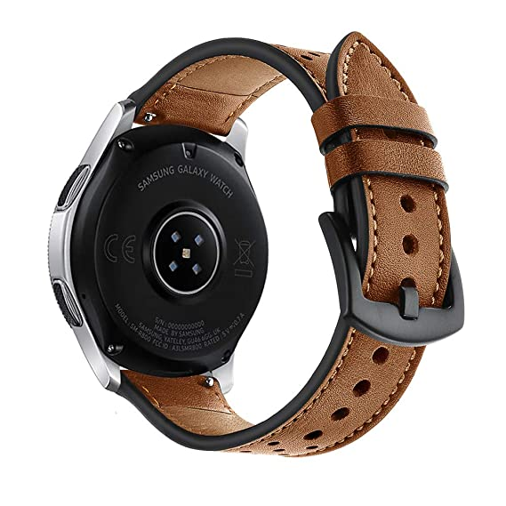Amazon.com: Aottom 22mm Qucik Release Watch Band Leather Men ...