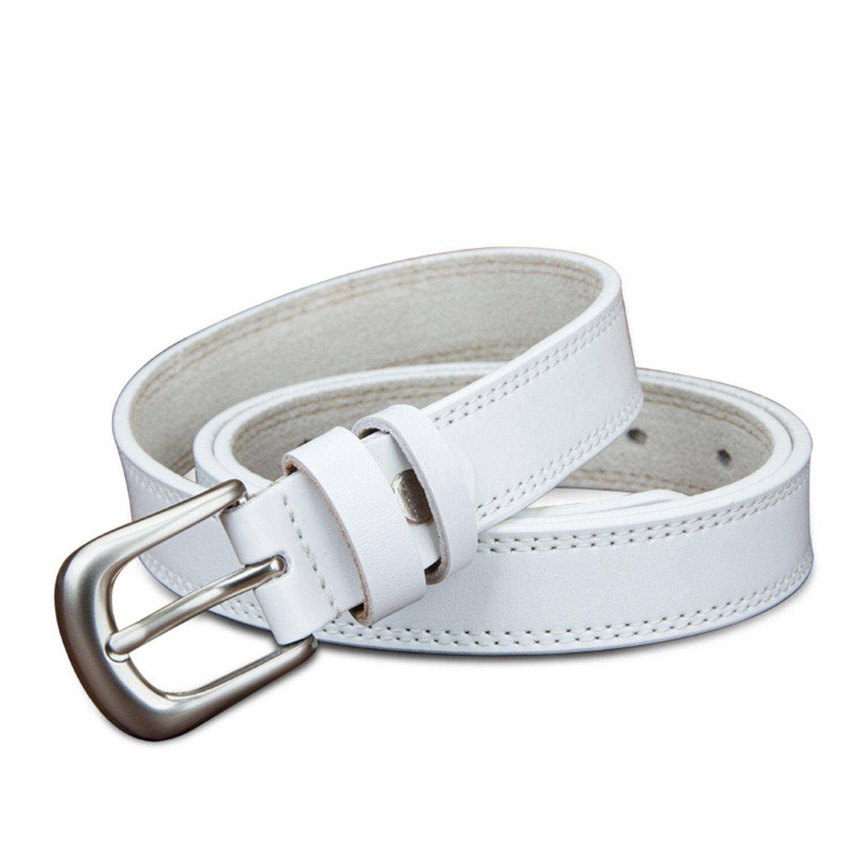 Beautifullight Hot genuine leather belts for women 2.2 cm width colorful girl strap lady fancy cowskin luxury female belt white 105cm