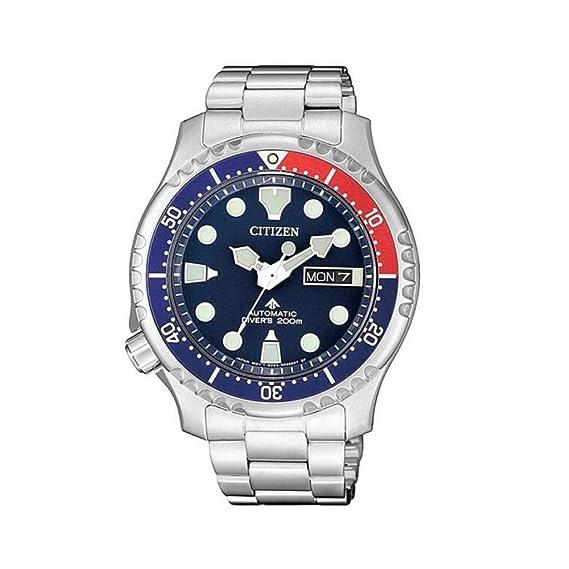 Citizen Promaster Diver 200 m automático NY0086-83L Reloj de Hombre Azul Rojo: Amazon.es: Relojes