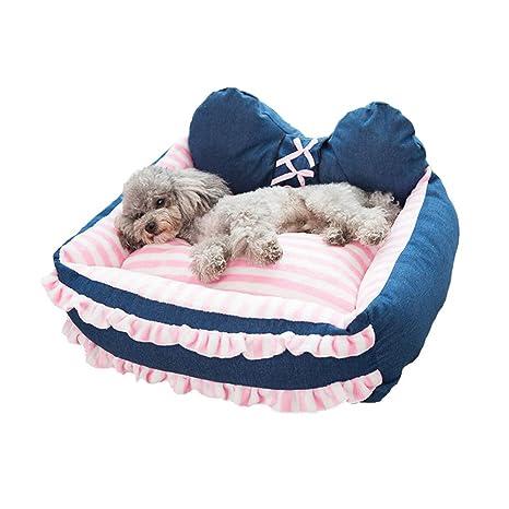 Cama para perro, cama para perro, ultra suave, desmontable, rectangular, alfombrilla