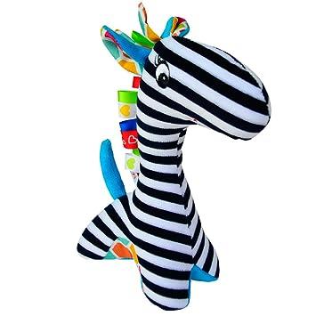 Eko Baby Stoffrassel Greifling Lernspielzeug Ab 0 Schwarz Weiß