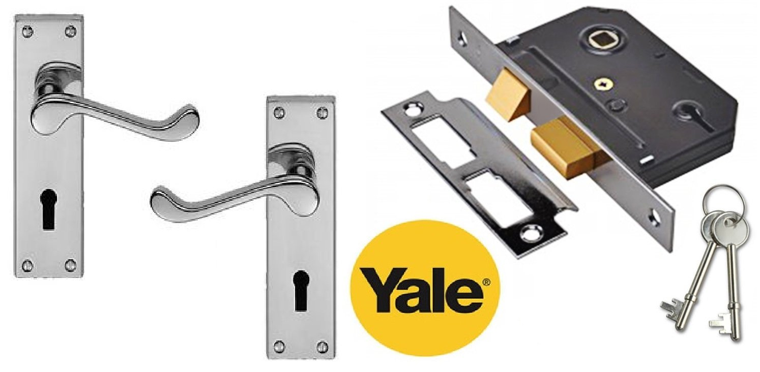 Discount Hardware UK - Juego de manivelas para puerta Yale Lock Pack ...