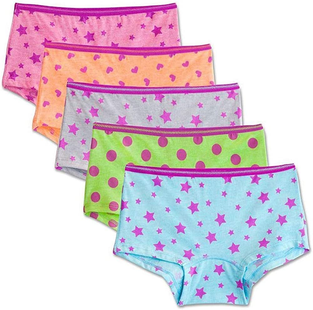 Fruit of the Loom Girls Assorted Boyshort Underwear