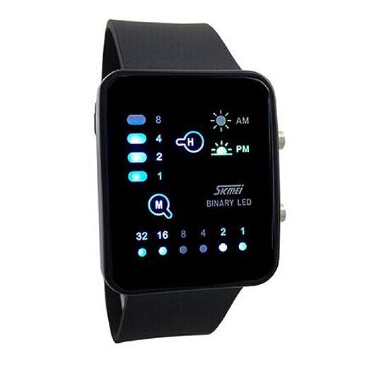 Sandistore tecnológico sense binario LED Digital deportes reloj pantalla táctil negro: Amazon.es: Relojes