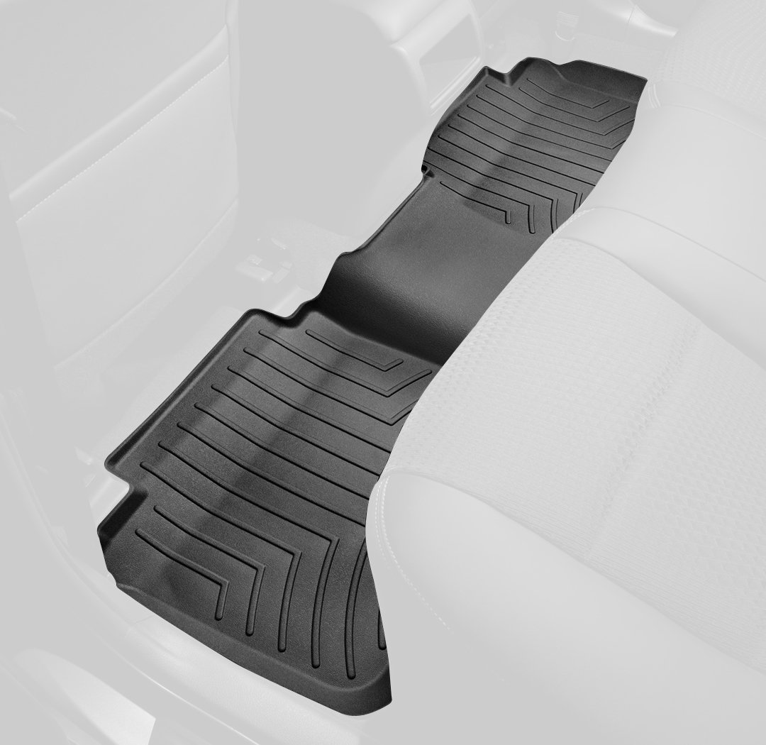 WeatherTech Custom Fit Rear FloorLiner for Toyota Tacoma Black