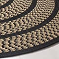 Safavieh Braided Collection BRD401A Hand Woven Ivory and Blue Oval Area Rug