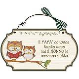Aracne Italy targhette country in legno da appendere PAPA' NONNO
