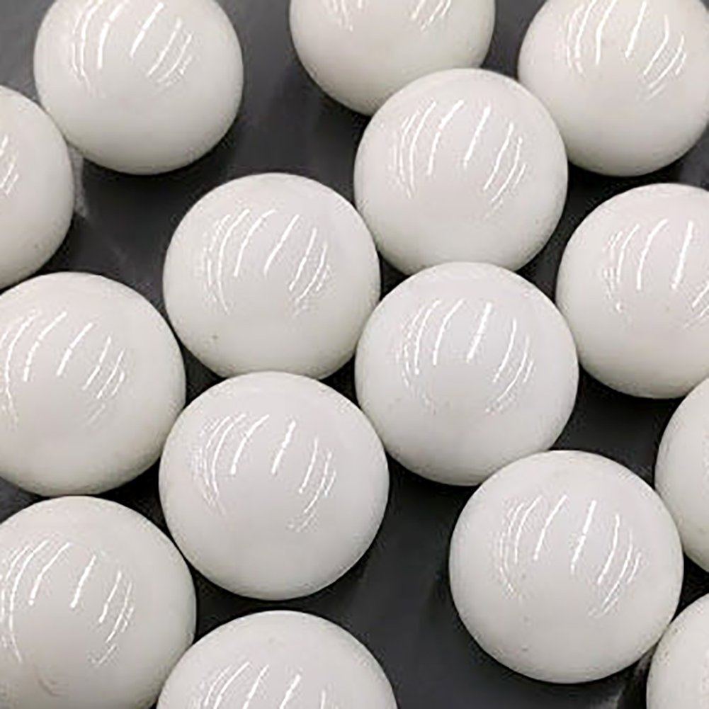 """Unique & Custom {1'' Inch} 1 Pound Set Of Approx 20 Big """"Round"""" Clear Marbles Made of Glass for Filling Vases, Games & Decor w/ Simple Modern Versatile Elegant Creative Trendy Design [White Color]"""