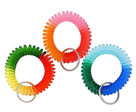 Amazon.com: VIEEL - Llavero con espiral de resorte colorida ...