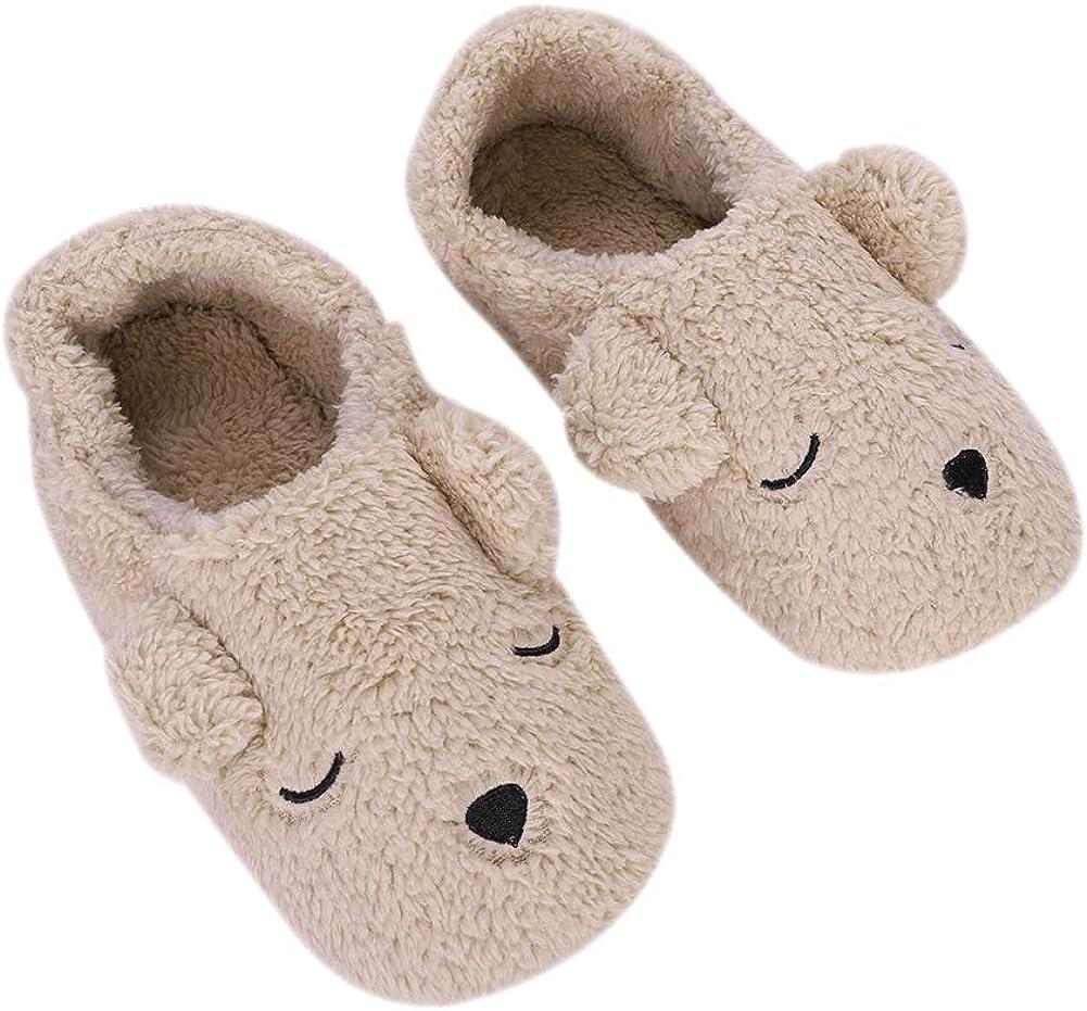 Peluche Chaudes Hiver Int/érieure Chaussons Mignon Chat Coton Accueil Anti Slip Slippers Chaussures Cadeau De No/ël HCLKSTORE Femme Homme Pantoufles