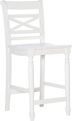 Powell Furniture Asher Counter Bar Stool, White