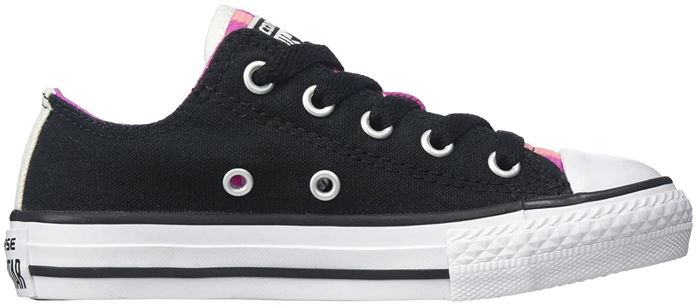 Converse Chuck Taylor All Star schwarz/Plastic Season Ox, Unisex Sneaker schwarz/Plastic Star Pink/Daybreak Pink 842b25