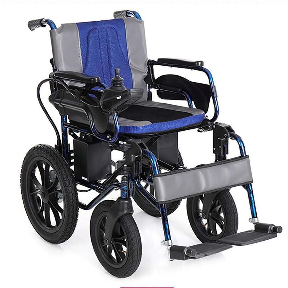 Guo plegable aluminio ligero frenos Scooter personas mayores handicapées silla de ruedas eléctrica: Amazon.es: Salud y cuidado personal