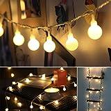 B-right Cadena de Luces, 40 LEDs 4m Tiras Bombilla Bola Redonda Decorativa Luminoso Para Hogar Interior Y Exterior para Navidad Fiesta Casa Jardín Boda Compleaño