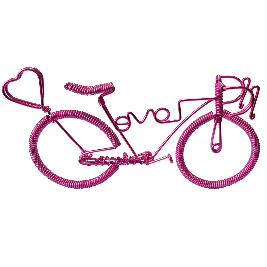 Amazon.com: Handcrafted Model Bike with Heart Shape, Unique Biking ...