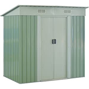 Amazon.com: Storage Shed Tool House 4×6 FT Outdoor Garden ...