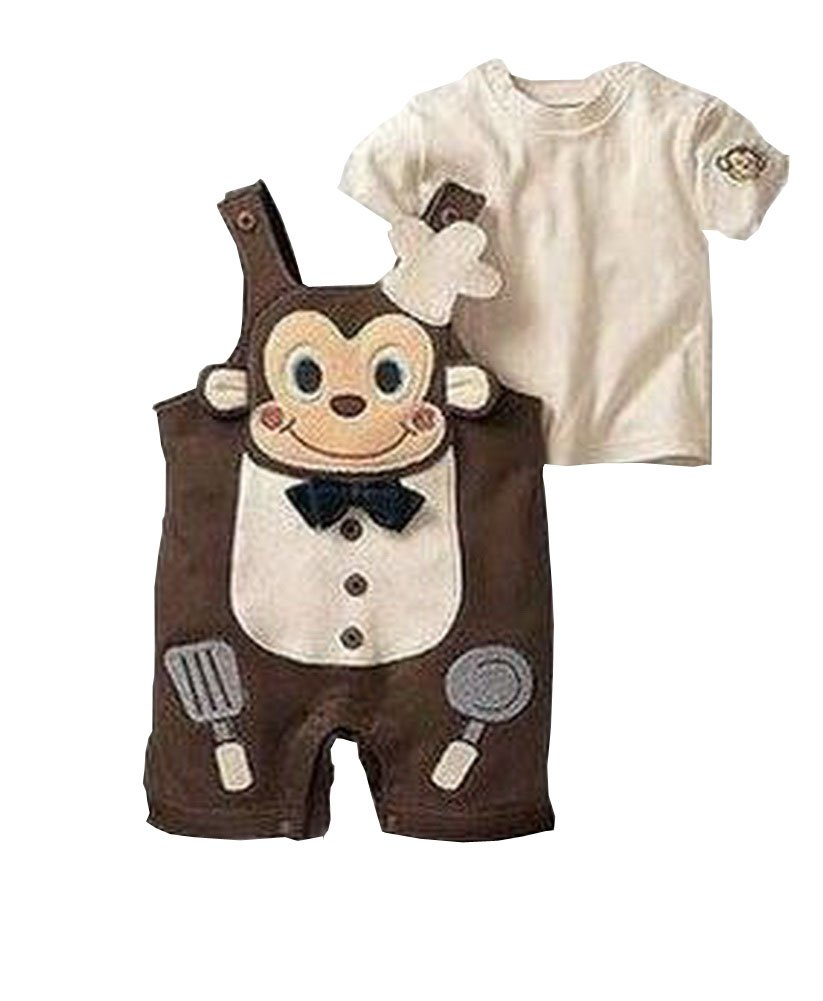 Cute Baby Overall Beautiful Baby Overall A Suit of Skirt And Overall Brown Blancho Bedding