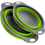 Yudesun Kitchen Food Strainers - Collapsible Colander Foldable Silicone Filter Extendable Handles Draining Pasta…