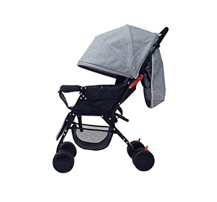 Gris Baby Trolley Portable Fold Paraguas Coche Niño Actividades al Aire Libre Sombrilla Coche A Prueba