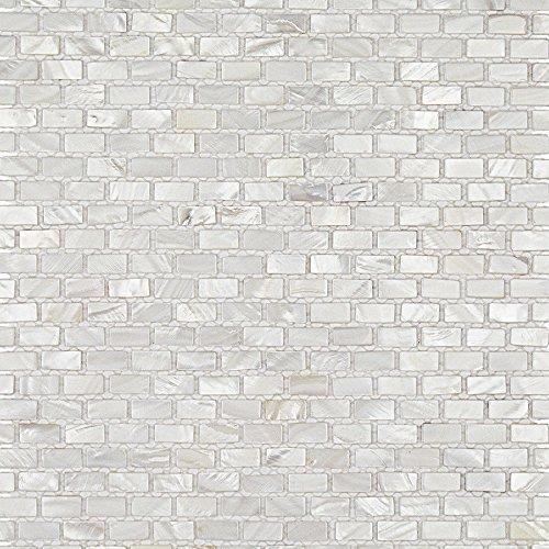 - Mini Brick Oyster White Pearl Tile Mini Brick Pattern
