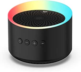 Axloie Portable Bluetooth Speaker, Colorful Light TWS Wireless Speaker with Deep Bass and Stereo Sound, 10H Playtime, Support TF Card/AUX, Built-in Mic for Home Party Travel (Black-Old)