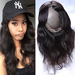 Mink Human Hair 360 Lace Frontal Only Body Wave Virgin Brazilian Hair Bleached Knots Single 360 Closure Natural Black Color Hair Grade 8A 16 Inches For Women