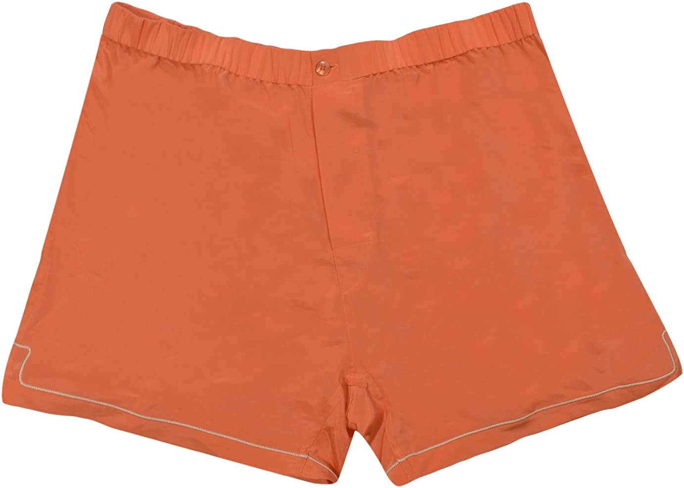 Nero Perla Orange 100/% Silk Boxer