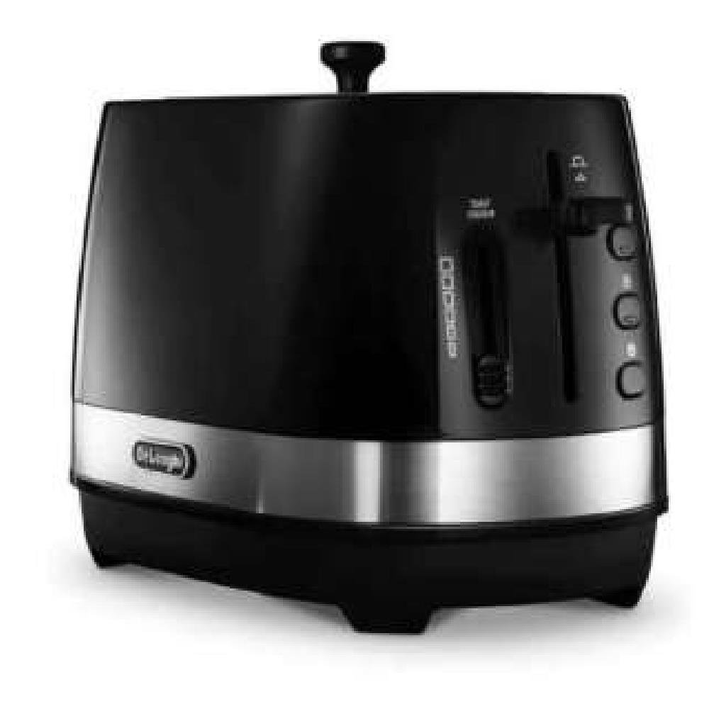 Delonghi ACTIVE SERIES Pop-Up Toaster CTLA2003J-BK (Intense Black)【Japan Domestic genuine products】【Ships from JAPAN】
