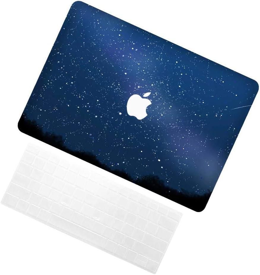 TRUUA Sacoche pour ordinateur Portable pour Macbook Air 13 Inch,Starry Sky 25 Conception Thème Plastique dur Coques Case Shell with Keyboard Cover Compatible Macbook Air 13
