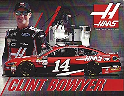 AUTOGRAPHED 2017 Clint Bowyer #14 Haas Automation Inc. Racing (Stewart-Haas Team