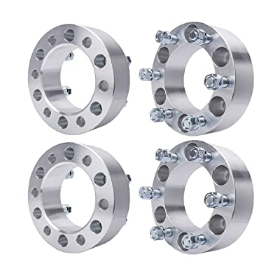 "BRTEC 4pcs Silver Wheel Spacers for 2007 2008 2009 2010 2011 2012 2013 Chevy Avalanche Silverado Suburban 2000 2001 2002 2003 2004 2005 2006-14 GMC Yukon Savana Sierra K1500(2"" Thick/6x5.5''): Automotive"