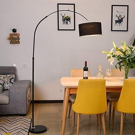 MILUCE Lámpara de pie arqueada para mesa de comedor-Modern Fish Line Lámpara de pie Luminaria