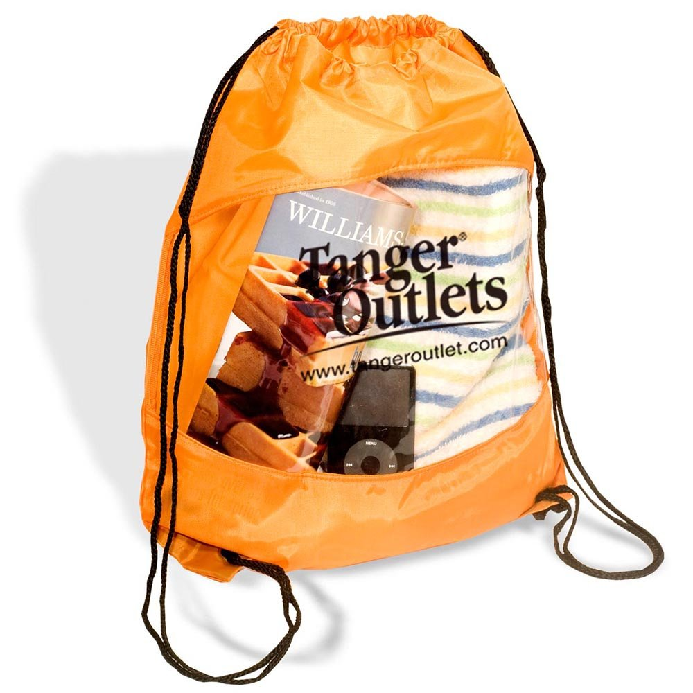 Clear View Drawstring Bag - 100 Quantity - $2.85 Each - PROMOTIONAL PRODUCT / BULK / BRANDED with YOUR LOGO / CUSTOMIZED by Sunrise Identity (Image #2)