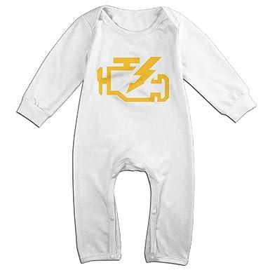 58c966dba CHECK ENGINE LIGHT Mechanic Auto Repair Baby Onesie Romper Jumpsuit  Bodysuits