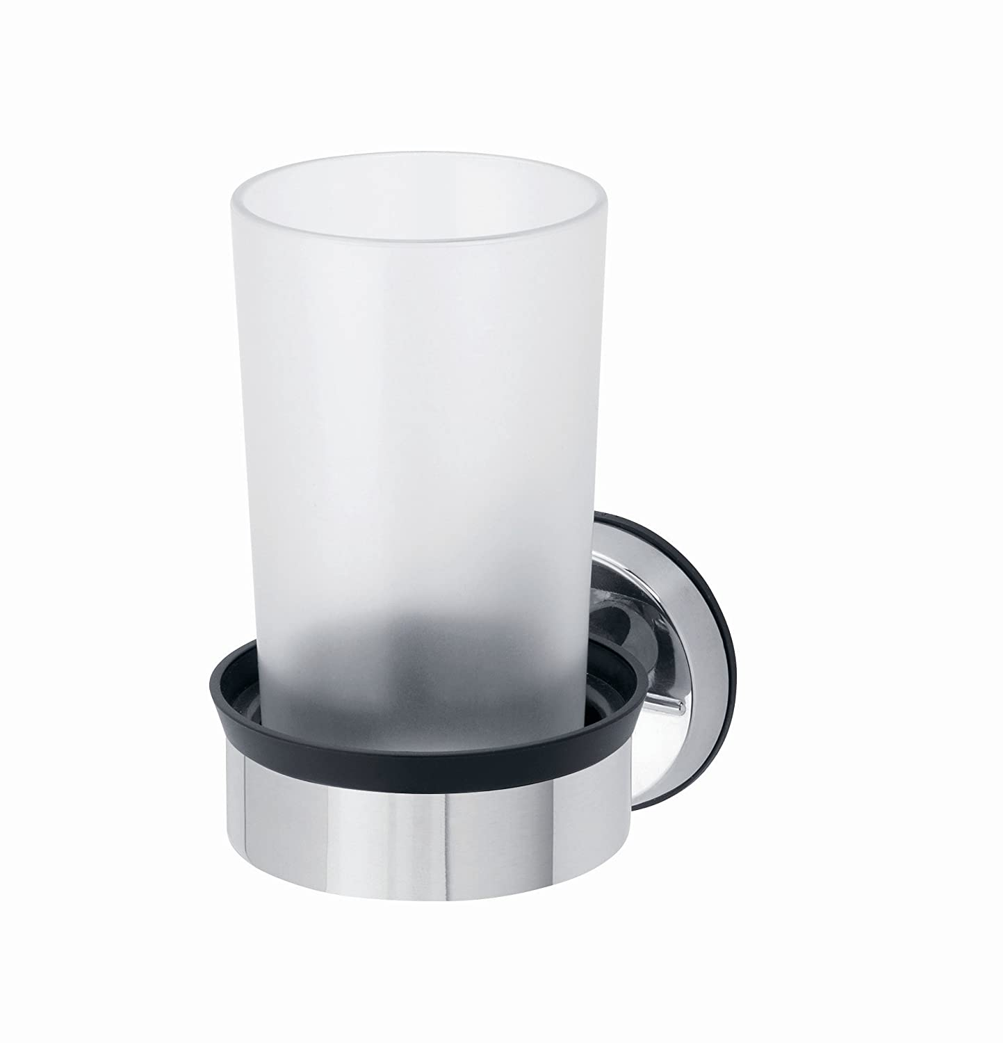 Brabantia Single Cup Holder - Brilliant Steel 399947 Bathroom Bathroom_Accessories Bathroom_Storage