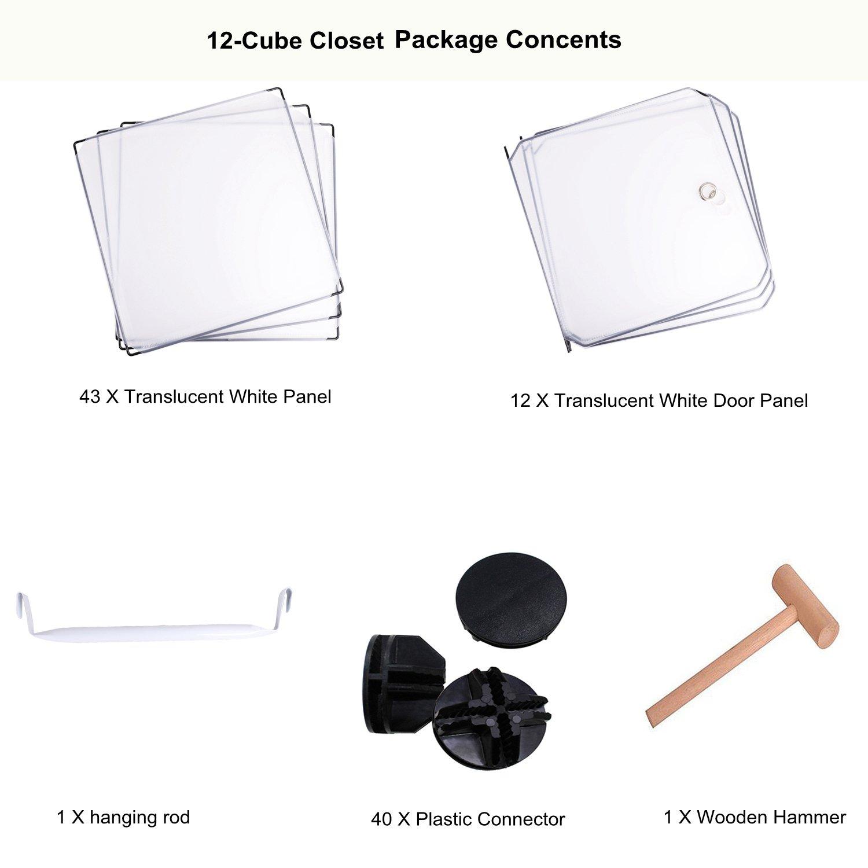 Libros Ropa Estanter/ía de Almacenamiento Cubos modulares Color Blanco BASTUO 6 Cubos Armario para Juguetes