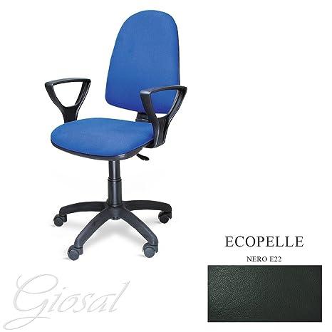 Sedia Torino Poltrona Girevole Ecopelle Operativa Studio Ufficio ...